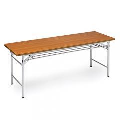 会議テーブル (折りたたみ式・木目 W1800×D600)