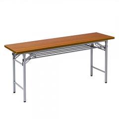 会議テーブル (折りたたみ式・木目 W1500×D450)