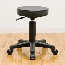 【晴れ晴れセール】丸椅子(ウレタンレザー・ブラック)